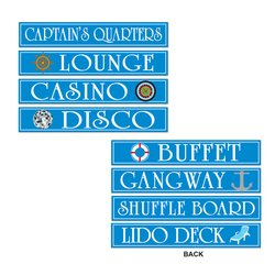 Cruise Ship Sign Cutouts   (4/Pkg)