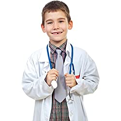 NATURAL UNIFORMS Childrens Lab Coat--Halloween Costumes--Soft Fabric 8/10 White