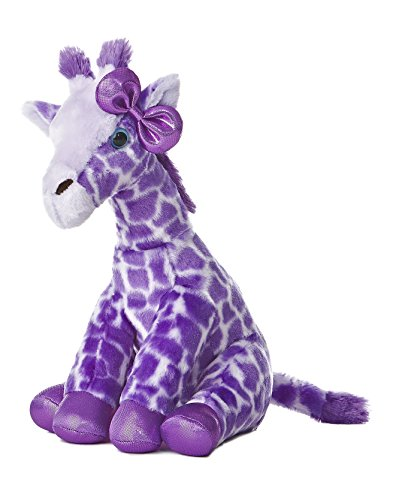 Aurora World Girlz Nation Purple Giraffe Plush, 12""