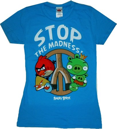 Angry Birds: Stop the Madness Junior T Shirt