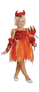 Rubie's Girls 'Lil' Devil' Halloween Costume, Red/Orange, M