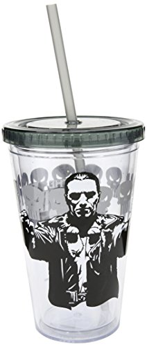 Tazza in plastica, motivo: Marvel Punisher-Guns-Tazza con cannuccia, soggetto New 10244