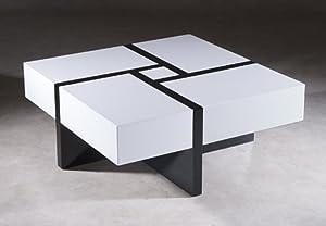 puzzle table basse noir et blanc cuisine maison. Black Bedroom Furniture Sets. Home Design Ideas