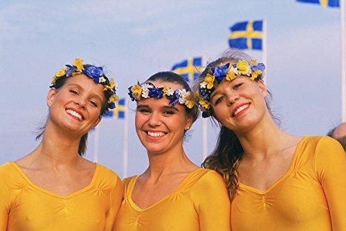 Three Swedish women on Sweden's National Day