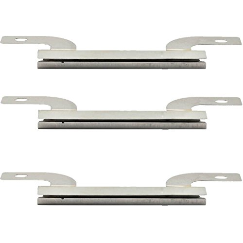 "The Red BBQ 09423 (3-Pack) Stainless Steel Burner Replacement For Select Brinkmann Gas Grill Models (7 5/8"" X 2 5/16"")"