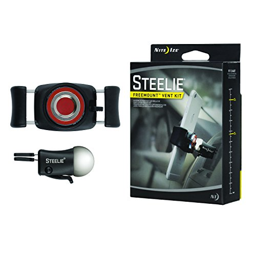 Nite Ize Steelie FreeMount Vent Kit - Simplest and Most Versatile Cell Phone Car Mount - For nearly any phone and any vehicle (Steelie Vent Mount compare prices)