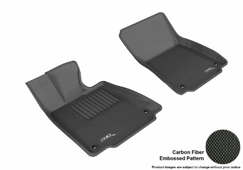3D Maxpider Front Row Custom Fit All-Weather Floor Mat For Select Lexus Is250/350 Models - Kagu Rubber (Black)