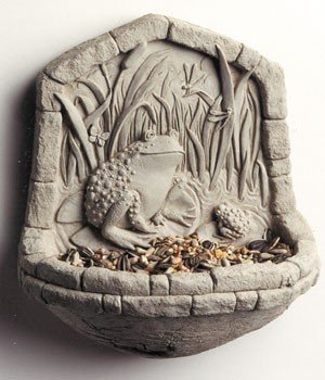 Cheap Cast Stone CATTAIL CAFE Frog BIRDFEEDER Or BIRD BATH Sculpture (B001UNAJ7A)