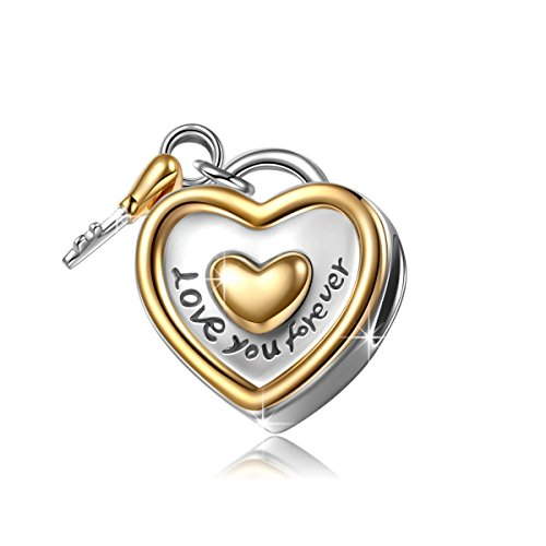 Happy Birthday Love Heart Charm Bead - 925 Sterling Silver - Gift boxed OYNX9Bc8am