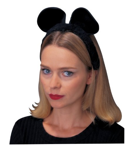 Rubies Black Cat/Mouse Ear Costume - 1