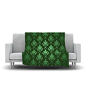Kess inhouse original emerald damask green - Emerald green throw blanket ...