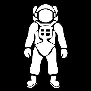 cosmonaut space suit silhouette - photo #4