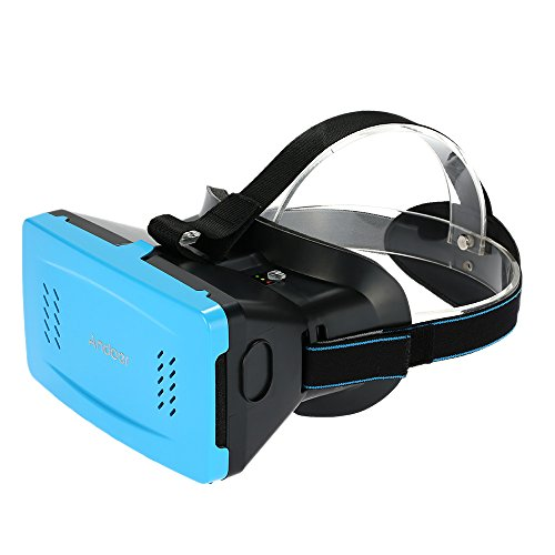 "Andoer Portable Plastic Version 3D VR Glasses Virtual Reality DIY with Magnetic Switch Hand Belt for All 3.5 ~5.5"" Smart Phones For iPhone 6 6Plus Samsung S6 S5 Note 4 3 HTC LG"