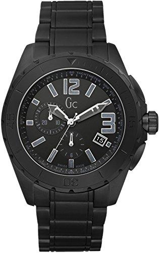 Guess  Sport Class Xxl Black Out - Reloj de cuarzo para hombre, con correa de acero inoxidable, color negro