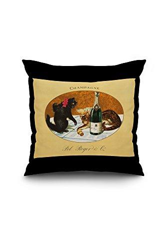 champagne-pol-roger-vintage-poster-c-1921-18x18-spun-polyester-pillow-black-border