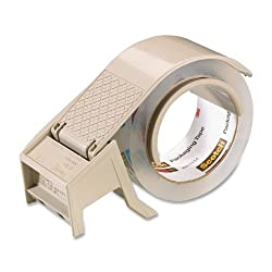 Scotch H122 - Compact and Quick Loading Dispenser for Box Sealing Tape, 3 core, Plastic, Gray
