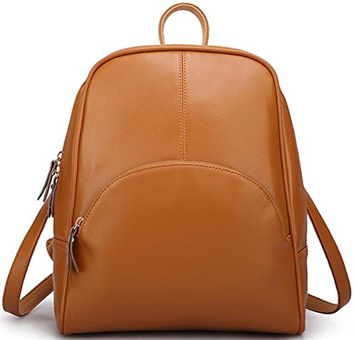Avber Womens Vintage style Top layer Cow Leather Backpack Shoulder Bag
