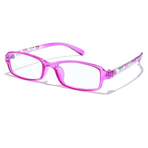 子供用★ケース メガネ拭き無料プレゼント★パソコン用メガネ<お子様用>UVカットも PC眼鏡☆パソコン、スマートフォン、ゲームなどのブルーライトを低減 (ピンク)