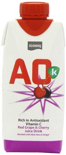 AOK Juice Grape & Cherry 330ml (Pack of 8)