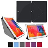 RooCASE Samsung Galaxy Note 10.1 2014 Edition Origami SlimShell Case Cover - Black