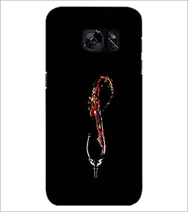 PrintDhaba Drink D-1220 Back Case Cover for SAMSUNG GALAXY S7 (Multi-Coloured)