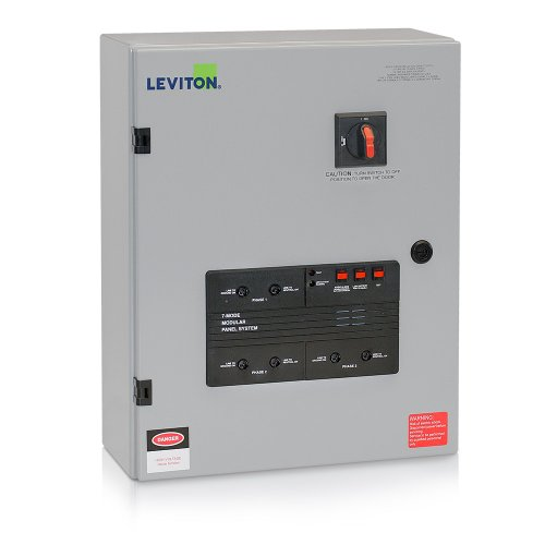 Leviton 52277-7Ms 277/480Vac 3-Phase Wye 7-Mode Type 2 Panel Mounted Surge Protective Device With Integral Disconnect Switch front-11837