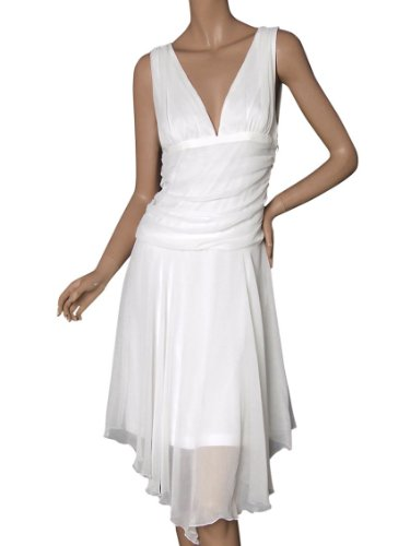 Ever Pretty Classic Double V-neck Empire Waist Bridesmaid Dress 26100