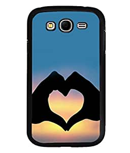 printtech Heart Peace Hardwell Sunset Back Case Cover for Samsung Galaxy Grand i9080:::Samsung Galaxy Grand i9082