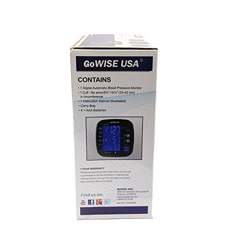 Gowise usa digital blood pressure monitor with for Gowise usa