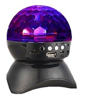 Onite®ステージ&スタジオ&舞台照明&パーティーライト RGBカラフル LEDミラーボール回転ライトTFカード音楽再生/ワイヤレスブルートゥースオーディオ送信機 Iphone, Ipad Mini, Ipad 4/3/2, Itouch, Samsung, LG, Motorola, HTC, Nexus 、スマートフォン、Mp3 プライヤーに対応