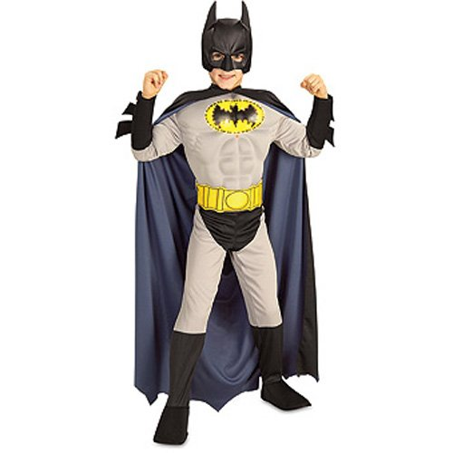 Fiber Optics Muscle Chest Batman Costume for Kids (size 7-8) by Rubies