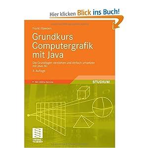 eBook Cover für  Grundkurs Computergrafik mit Java Die Grundlagen verstehen und einfach umsetzen mit Java 3D Mit Online Service