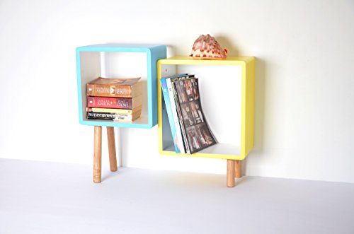 2er Cube Regal Holz Regal Regalwürfel Wandregal CD Regal Bücherregal_13A-121