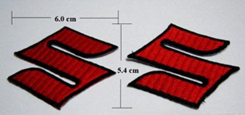 For Sale! Suzuki Iron on Patches Motorcycle Embroidered 2 Pieces