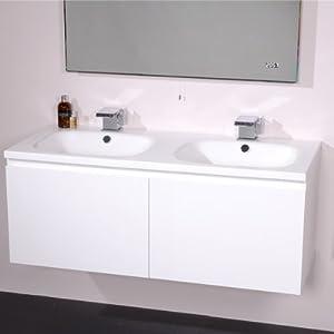 1200 double vanity unit with basin for bathroom luxury - Double wash basin bathroom ...