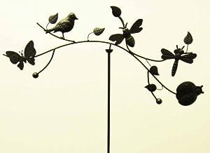 Metal Garden Wind Vane Spinner - Nature Scene from Brilliant Wall Art