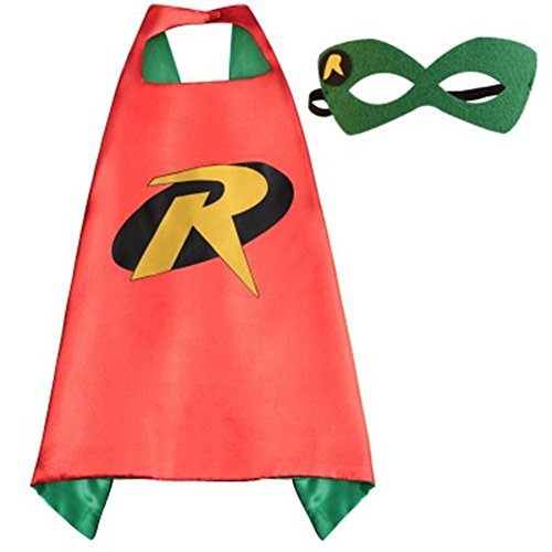 Blue Heron DC Superheroes Adult Size - Robin Logo Cape and Mask w/Gift Box