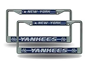 Amazon Com New York Ny Yankees Chrome Metal 2 Bling