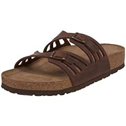 Birkenstock Women\'s Granada Soft Footbed Sandal,Habana Oiled Leather,40 M EU