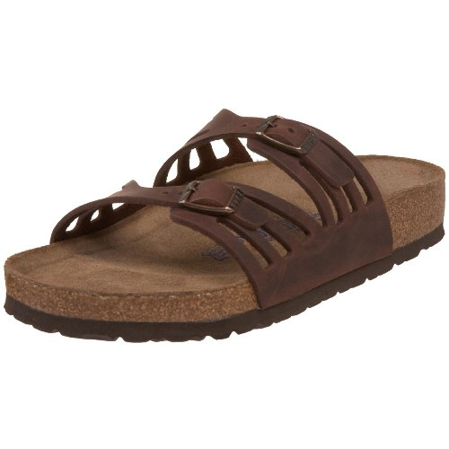 Birkenstock Women's Granada Soft Footbed Sandal,Habana Oiled Leather,39 M EU (Birkenstock Sandals Women 39 compare prices)