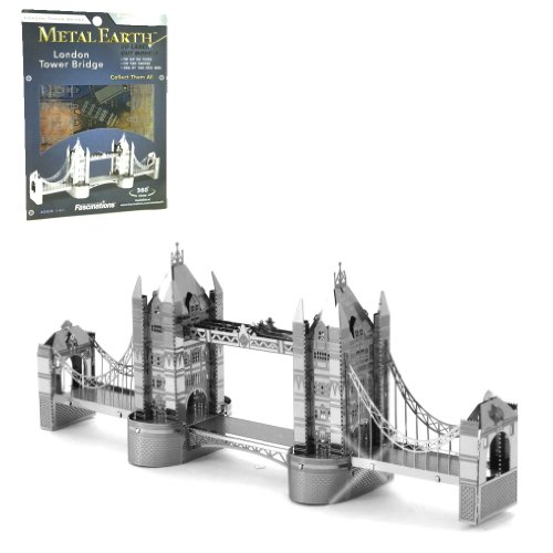London Tower Bridge England 3 D Metal Etch Model