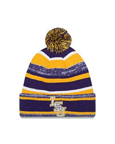 brand new 502a5 a05b6 NCAA LSU Tigers New Era College NE14 Sport Knit Beanie, One - Import It All