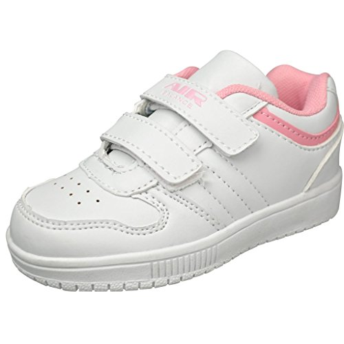 air balance boys infant toddler velcro white pink