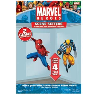 Spider-Man & Wolverine Scene Setter Add-Ons - Buy Spider-Man & Wolverine Scene Setter Add-Ons - Purchase Spider-Man & Wolverine Scene Setter Add-Ons (Rubies, Toys & Games,Categories,Party Supplies,Decorations)