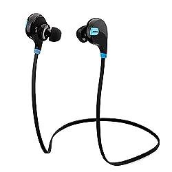 Mpow Swift Bluetooth 4.0 イヤフォン ワイヤレスステレオヘッドセット aptX付 スポーツに対応 「18ヶ月保証」(ブラック)