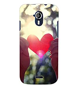 ColourCraft Heart Design Back Case Cover for MICROMAX CANVAS MAGNUS A117