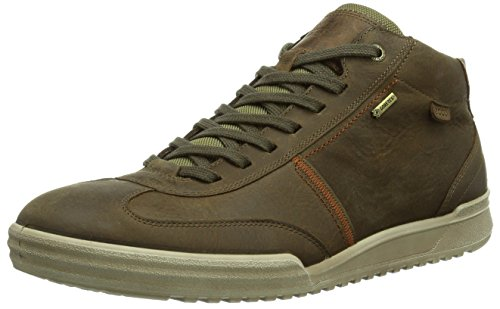 Ecco ECCO FRASER, Sneaker alta Uomo, Marrone (Braun (NAVAJO BROWN/COCOA BROWN 55737)), 40 (7 uk)
