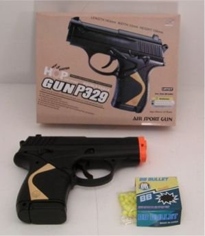 Airsoft Spring Pistol BB Gun P329 10 Round Clip Full Scale Shoots Around 220 FPS