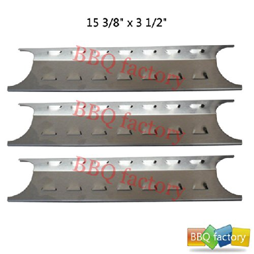 95181(3-pack) Stainless Steel Heat Plate Replacement for Select Gas Grill Models by Brinkmann, Charmglow and Others