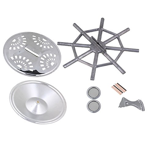 Yibuy Resonator Guitar Kit Bridge Soundhole Cover Resonator Tailpiece Spider bridge Cover Resonator Cone Set of 8 (Spider Resonator Cone compare prices)